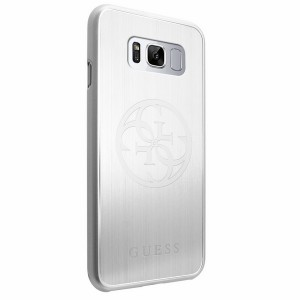 Guess Korry Aluminium Plate Hülle GUHCS8LMERLSI Samsung Galaxy S8 Plus Silber