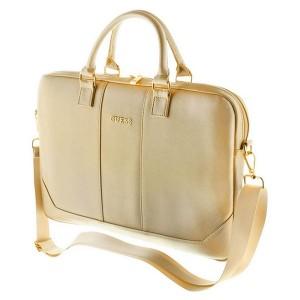 """Guess Saffiano Notebook / Laptop Tasche 13"""" bis 15"""" Gold"""