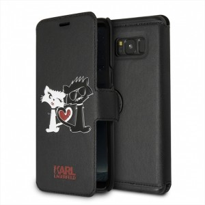 Karl Lagerfeld Choupette in love Tasche KLFLBKS8CL1BK Samsung Galaxy S8 Schwarz