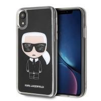 Karl Lagerfeld Iconic Glitter Hülle KLHCI61ICGBK iPhone Xr schwarz