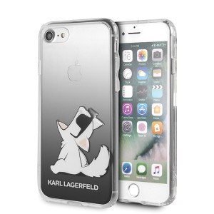Karl Lagerfeld iPhone SE 2020 / 8 / 7 Choupette Fun Hülle Schwarz
