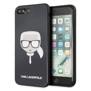 Karl Lagerfeld Iconic Glitter Karl`s Head Hülle KLHCI8LDLHBK iPhone 8 Plus / 7 Plus schwarz