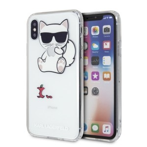 Karl Lagerfeld Choupette Fun Hülle KLHCPXCFA iPhone X / Xs transparent