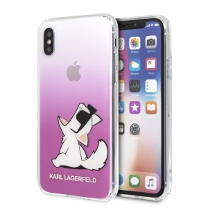 Karl Lagerfeld Choupette Fun Hülle KLHCPXCFNRCPI iPhone X / Xs pink