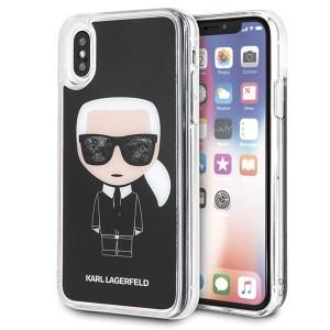 Karl Lagerfeld Iconic Glitter Hülle KLHCPXICGBK iPhone X / Xs schwarz
