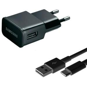 Original Samsung ETA-0U90 Netzteil / Ladekabel / Ladegerät 2A schwarz + USB C