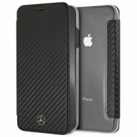 Mercedes Dynamic Carbon Tasche MEFLBKI65CFBK iPhone Xs Max Schwarz