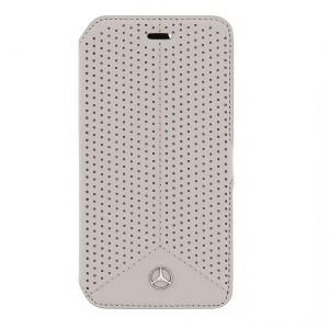 Mercedes Pure Line Ledertasche MEFLBKP6PEGR iPhone 6 / 6S Grau