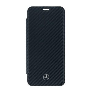 Mercedes Dynamic Carbon Tasche MEFLBKS9CFBK Samsung Galaxy S9 Schwarz