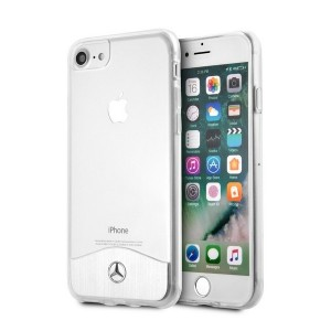 Mercedes iPhone SE 2020 / iPhone 8 / 7 Wave IX Hülle Hard Case Transparent Silber MEHCI8TRBRSI