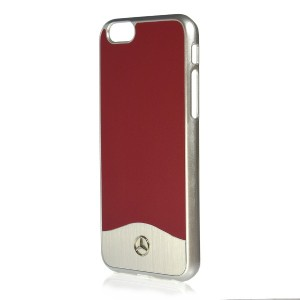 Mercedes Wave I Hülle MEHCP6CUALRE iPhone 6 / 6s Hard Case Alu / Rot
