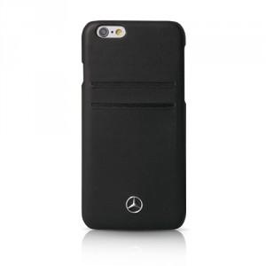 Mercedes Pure Line Lederhülle MEHCP6LPLBK iPhone 6 Plus / 6S Plus Schwarz