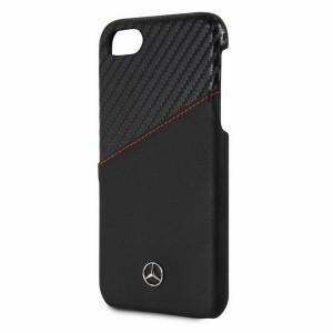 Mercedes Lederhülle Dynamic Line MEHCP7CSCALBK iPhone 8 / 7 Schwarz
