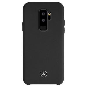 Mercedes Benz Silikon Hülle MEHCS9LSILBK Samsung Galaxy S9+ Plus Schwarz