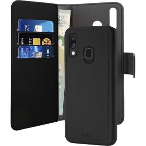Puro Wallet Book Tasche + Hülle 2in1 Samsung Galaxy A40 Schwarz