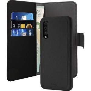 Puro Wallet Book Tasche + Hülle 2in1 Samsung Galaxy A50 Schwarz