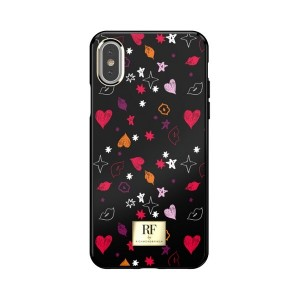 Richmond & Finch iPhone Xs / X Cover Heart & Kisses colorfull