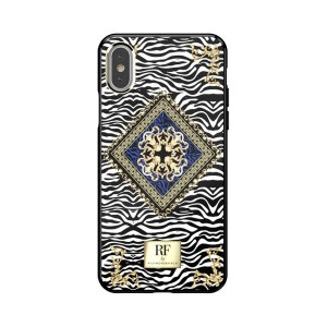 Richmond & Finch iPhone Xs / X Cover Zebra Chain colorfull