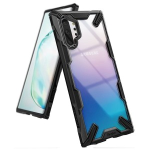Ringke Hülle Fusion X Samsung Note 10+ N975 Transparent Schwarz