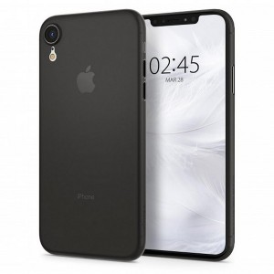 Spigen Air Skin Hülle iPhone Xr schwarz ultradünne 0,4 mm