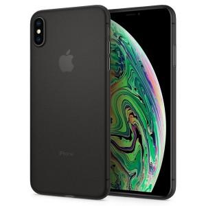 Spigen Air Skin Hülle iPhone Xs Max schwarz ultradünne 0,4 mm
