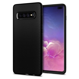 Spigen Liquid Air Hülle Samsung Galaxy S10 Plus schwarz matt