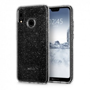 Spigen Liquid Crystal Glitter Hülle Huawei P20 lite clear