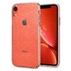 Spigen Liquid Crystal Glitter Hülle iPhone Xr crystal quartz