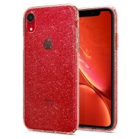 Spigen Liquid Crystal Glitter Hülle iPhone Xr rose quartz