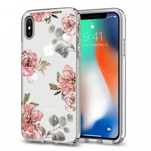 Spigen Liquid Crystal Hülle iPhone Xs / X aqarelle Rose