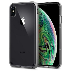 Spigen Neo Hybrid Crystal Hülle iPhone Xs Max satin silver