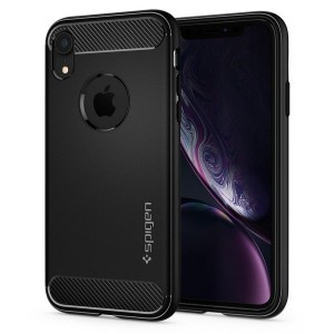 Spigen Rugged Armor Hülle iPhone Xr black