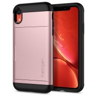 Spigen Slim Armor CS Hülle iPhone Xr rose gold