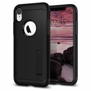 Spigen Slim Armor Hülle iPhone Xr black mit Kickstand