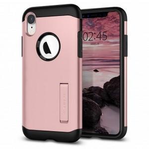 Spigen Slim Armor Hülle iPhone Xr rose gold mit Kickstand