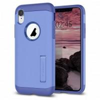 Spigen Slim Armor Hülle iPhone Xr violet mit Kickstand