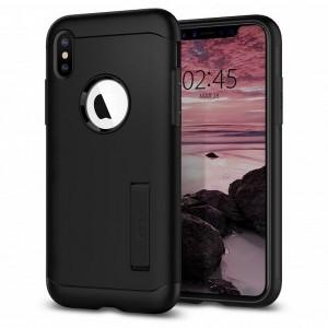 Spigen Slim Armor Hülle iPhone Xs Max black mit Kickstand