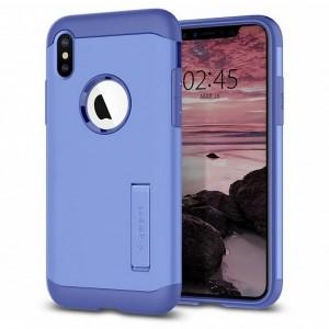 Spigen Slim Armor Hülle iPhone Xs Max violet mit Kickstand