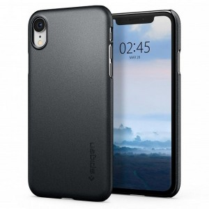 Spigen Thin Fit Hülle iPhone Xr grey