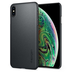 Spigen Thin Fit Hülle iPhone Xs Max Grau