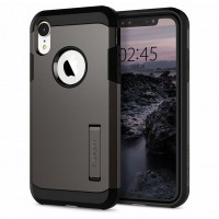 Spigen Tough Armor Hülle iPhone Xr gun metal mit Kickstand