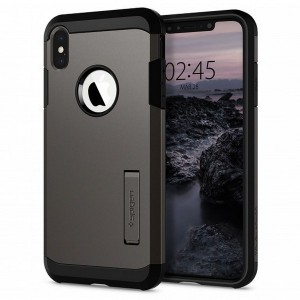 Spigen Tough Armor Hülle iPhone Xs Max gun metal mit Kickstand