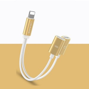 USAMS Adapter 2w1 Lightning gold SJ1602L02 US-SJ160