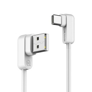 USAMS U-Flow USB-C Winkelkabel 1,2 m weiß TCUSBCY02 US-SJ167