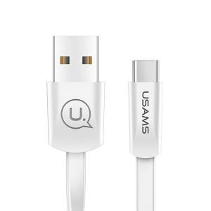 USAMS Flachkabel U2 USB-C 1,2m weiß SJ200TC02 US-SJ200