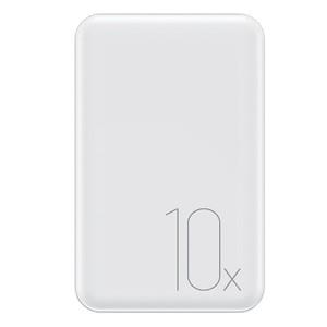 USAMS Powerbank Mini PB10 10000 mAh 2.1A Schnellladegerät weiß 10KCD7002 (US-CD70)
