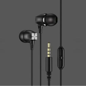 USAMS Stereo Kopfhörer EP-19 schwarz HSEP1901 3,5mm