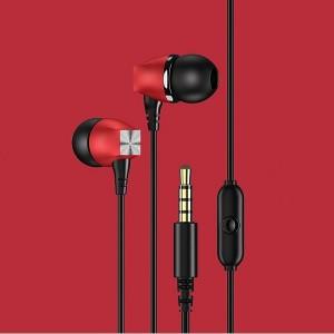 USAMS Stereo Kopfhörer EP-19 rot HSEP1903 Buchse 3.5mm