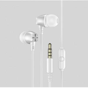 USAMS Stereo Kopfhörer EP-19 silber HSEP1902 Klinke 3.5mm