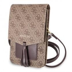 Guess 4G Universal Tasche mit Schultergurt Braun